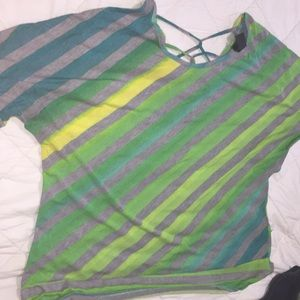 Tops - Multicolored striped shirt